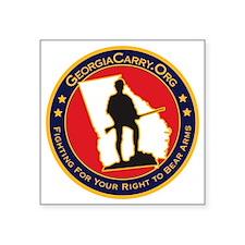 """Ga_carry_logo Square Sticker 3"""" x 3"""""""