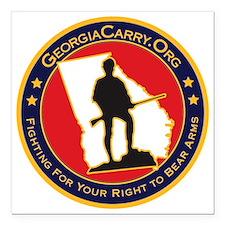 """Ga_carry_logo Square Car Magnet 3"""" x 3"""""""