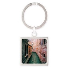 Canal in Venice Italy Square Keychain