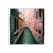 "Canal in Venice Italy Square Sticker 3"" x 3"""