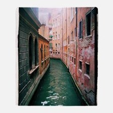 Canal in Venice Italy Throw Blanket