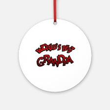 World's Best Grandpa Ornament (Round)