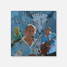 """Mitch Walking Elk Square Sticker 3"""" x 3"""""""
