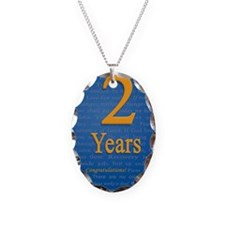 2 Years Recovery Slogan Birthd Necklace