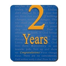 2 Years Recovery Slogan Birthday Card Mousepad