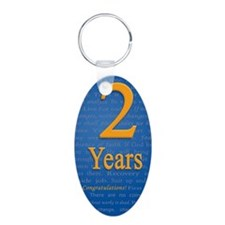 2 Years Recovery Slogan Bir Keychains