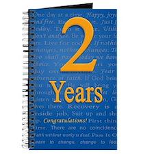 2 Years Recovery Slogan Birthday Card Journal