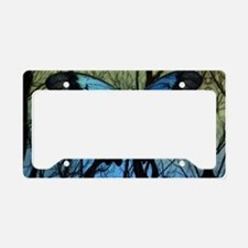 10 Blue Butterfly Rectangle S License Plate Holder