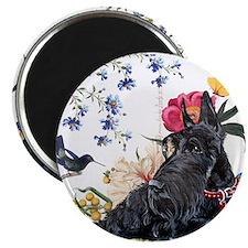 Scottish Terrier and Hummingbird Magnet