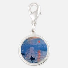 Monet Sunrise Silver Round Charm