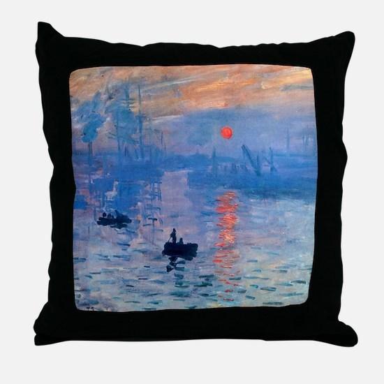 Monet Sunrise Throw Pillow
