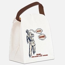 zombie-bacon-LTT Canvas Lunch Bag