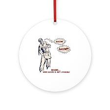 zombie-bacon-LTT Round Ornament