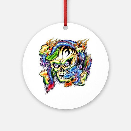 skull1 Round Ornament