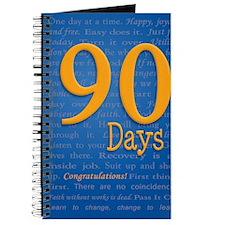 90 Days Recovery Slogan Birthday Card Journal