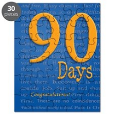 90 Days Recovery Slogan Birthday Card Puzzle