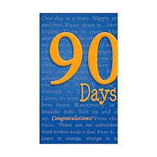 90 Days Recovery Slogan Birthd Decal