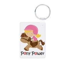 Pony Power Blond Keychains