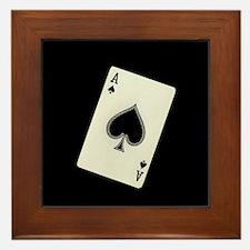 Ace of Spades Framed Tile
