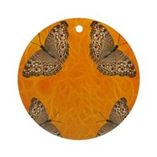 Butterfly Fires Round Ornament