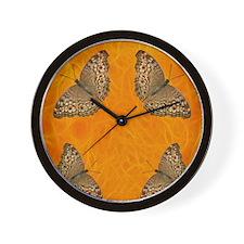Butterfly Fires Wall Clock