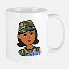 Army Head Woodland Camo Mug