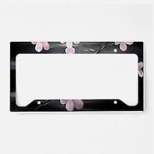Cherry Blossom Night Shadow License Plate Holder