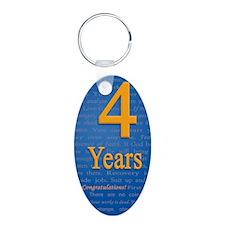 4 Years Recovery Slogan Bir Keychains