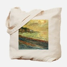 Beach at Pourville Tote Bag