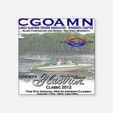 "CGOAMN Summer Classic Square Sticker 3"" x 3"""