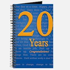 20 Years Recovery Slogan Birthday Card Journal