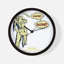 zombie-bacon-DKT Wall Clock