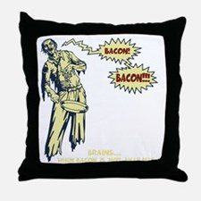 zombie-bacon-DKT Throw Pillow