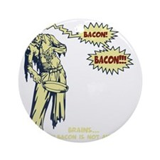 zombie-bacon-DKT Round Ornament