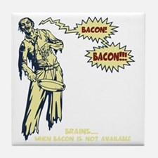 zombie-bacon-DKT Tile Coaster