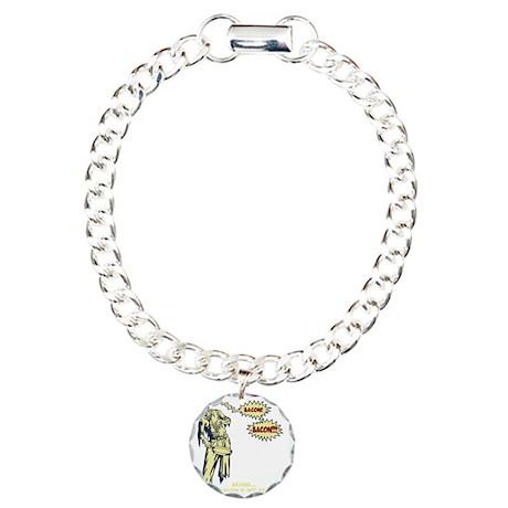 zombie-bacon-DKT Charm Bracelet, One Charm