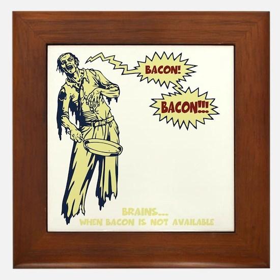 zombie-bacon-DKT Framed Tile