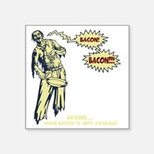 "zombie-bacon-DKT Square Sticker 3"" x 3"""