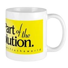 Be Part of the Solution - Bumper Sticke Mug