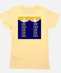 Cheer Yellow and blue Girl's Tee