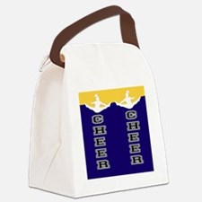 Cheer Yellow and blue Canvas Lunch Bag