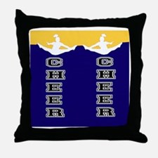 Cheer Yellow and blue Throw Pillow