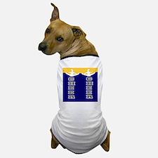 Cheer Yellow and blue Dog T-Shirt
