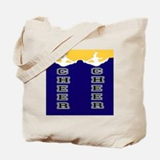 Cheer Yellow and blue Tote Bag