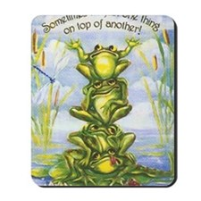 tower of frogs Mousepad