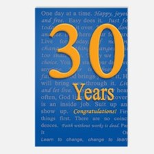 30 Years Recovery Slogan  Postcards (Package of 8)