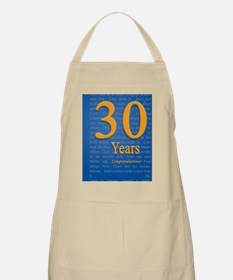 30 Years Recovery Slogan Birthday Card Apron