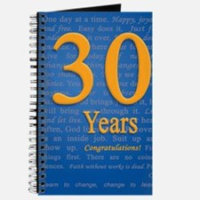30 Years Recovery Slogan Birthday Card Journal
