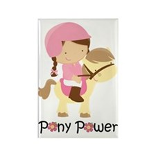 Cute Pony Power Rectangle Magnet