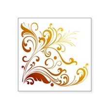 "new swirl Square Sticker 3"" x 3"""